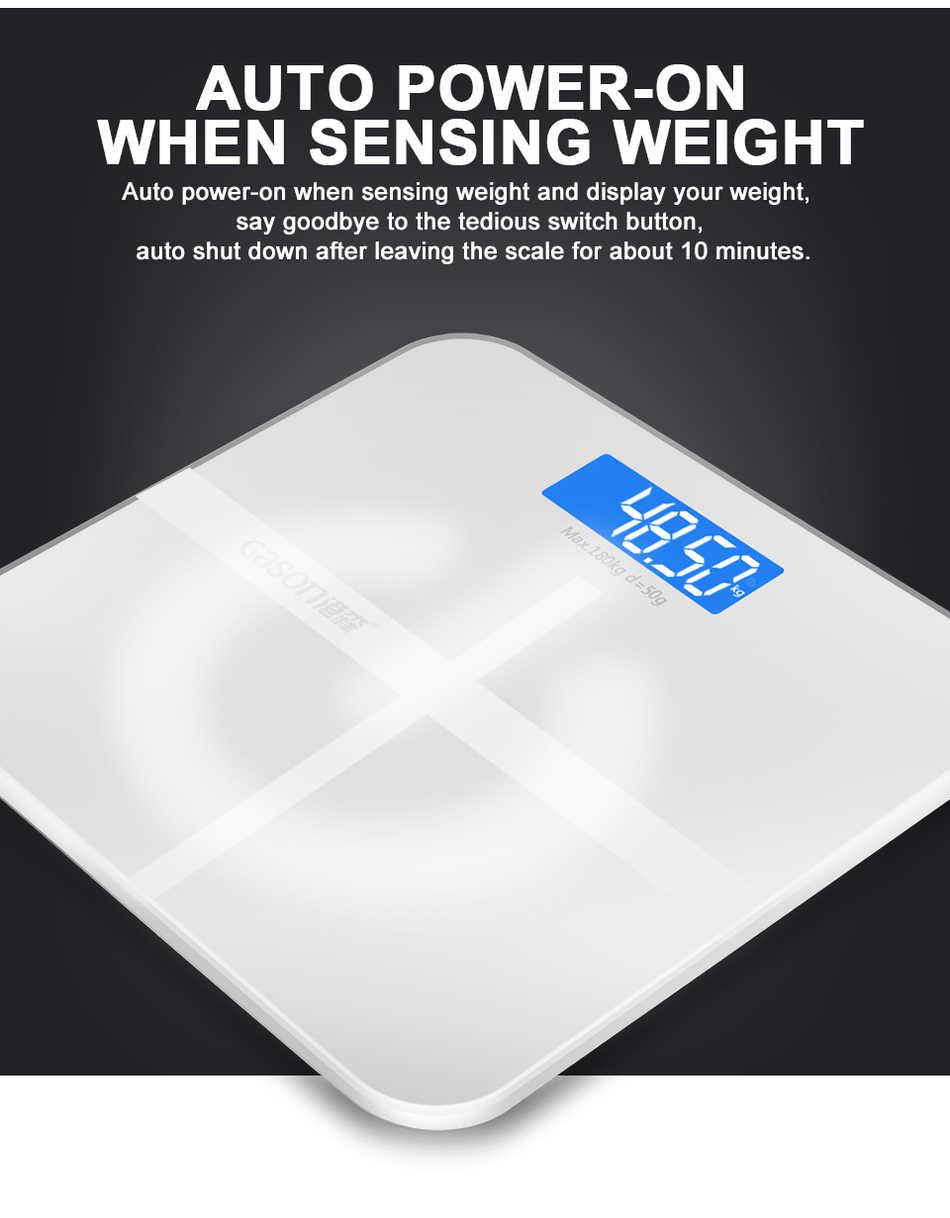 Meilleure vente GASON 180 kg carré Vision nocturne salle de bains ménage poids échelle intelligente Steelyard électronique LCD numérique balances
