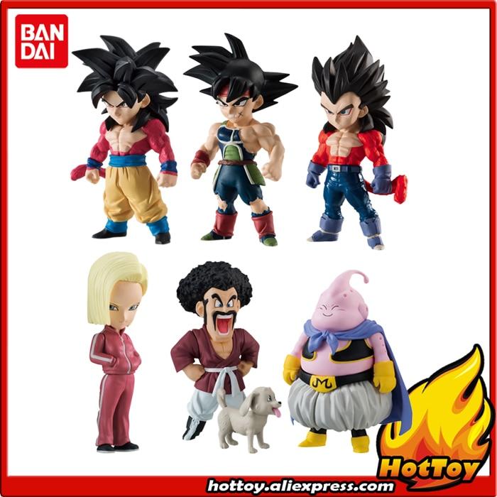 100% Original BANDAI ADVERGE 07 Toy Figure Full Set of 6 Pcs Goku Vegeta Barduck Android 18 Buu Mr.Satan Dragon Ball SUPER