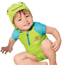 Gorące dzieci strój kąpielowy dla dzieci chłopców tułowia pływanie dzieci strój kąpielowy styl oceanu słodkie żaba stroje kąpielowe dla chłopców strój kąpielowy spodnie do pływania tanie tanio YAOYAO BEAR COTTON Pasuje prawda na wymiar weź swój normalny rozmiar Cartoon Unisex swimwear beach swimwear Children swimsuit