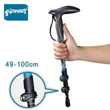 2020 New Arrivals Pioneer Carbon Fiber Compact Trekking Pole Quick Flip Lock Ultralight Collapsible Travel Hiking Walking Stick