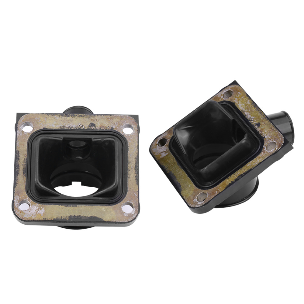 1pair Durable Motorcycle Carb Carburetor Intake Manifold Boot Joint for  YAMAHA RD350LC RZ350L YFZ350 Carburetor Interface
