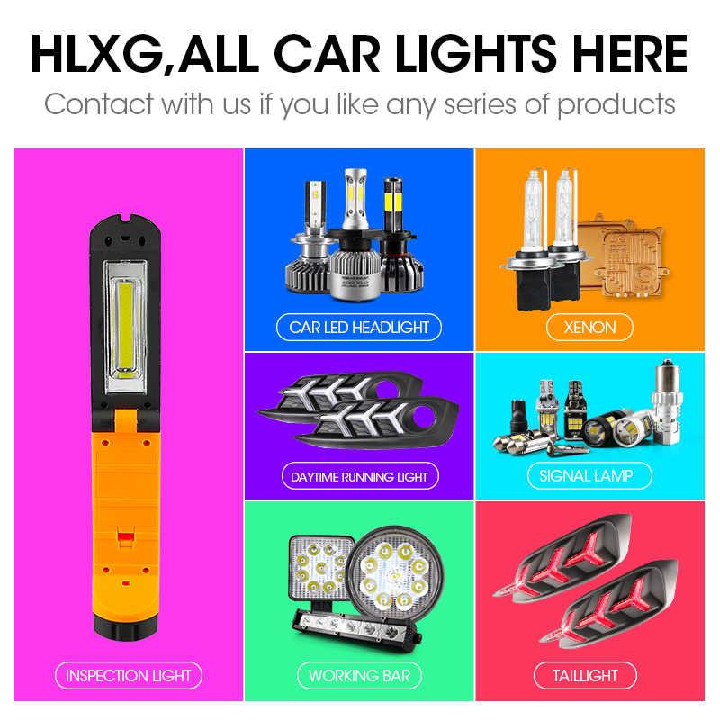 Hlxg 2 Шт. лампы h4 ПРИВЕЛО H7 H1 H3 H8 H11 9005 HB3 9006 HB4 светодиодные лампы для авто COB S2 Авто фар 72 Вт 8000LM Высокой Ближнего света Все В Одном Автомобилей Лампы 6500 К 12 В лампочки для авто