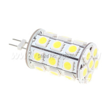 Free Shipment !!! 27pcs 5050 SMD G4 LED Corn Bulb 12VDC 4W Dimmable Use For Yachts Boats  Ships Automobiles Carts