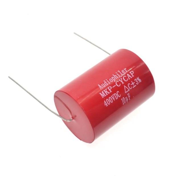 Бесплатная доставка 10 шт. Audiophiler Axial MKP 10 мкФ 400VDC HIFI DIY аудио класса конденсатор для гитарных усилителей