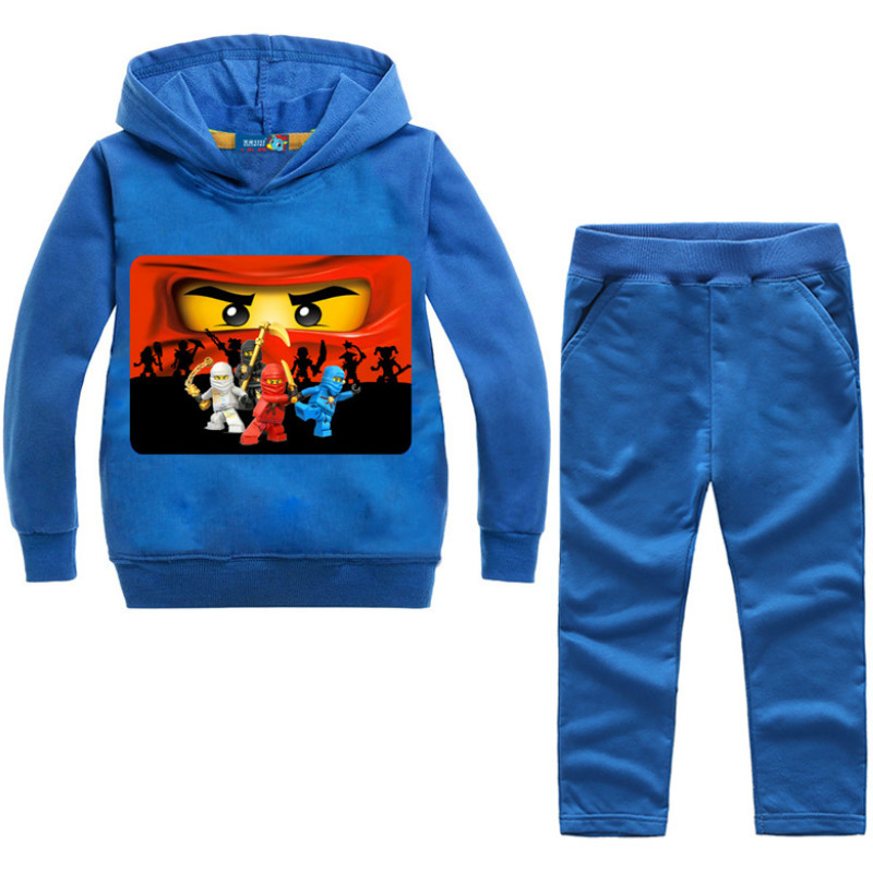 Spring Autumn Children Clothing Sets Ninjagoed Kids Clothes Baby Boys Top Jacket +Pants 2 PCS Tracksuit Ninja Outwear Coat