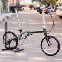 "Chrom Stahl Faltrad 16 ""Minivelo Mini velo Fahrrad Städtischen Pendler Fahrrad mit V Brems Faltbare 9 Geschwindigkeit Fnhon post Grün commuter bicycle folding bikefolding bike 16 -"