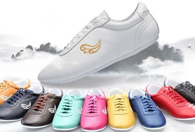 57e2e172c unisex 12colors top quality true soft leather auspicious clouds taijiquan  martial arts training shoes tai chi
