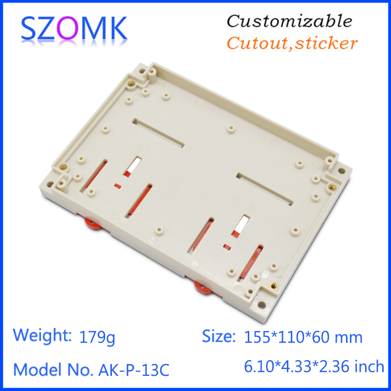 szomk plastic din rail enclosure electronics box PLC instrument plastic housing case plastic junction box (12)