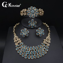 Dubai Earring gold-color wedding jewelry sets fashion Blue zircon Exaggerated Necklace Bridal African beads Bangle Ring 11.10 new dubai african beads gold color wedding jewelry sets party gift fashion beautiful bridal necklace earring bridal bangle ring