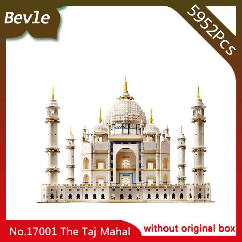 Bevle Store LEPIN 17001 1368pcs Street View Series The Taj Mahal Building Blocks Set Bricks For Children Toys 10189 Boy's Gift compatible lepin city mini street view building blocks chinatown satin silk store with saleman figures toys for children gift