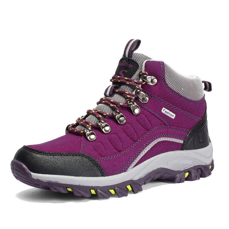 ZHJLUT New High Cut Women Hiking Boots Mens Outdoor Trekking Shoes Womens Waterproof Non-slip Mountain Climbing SneakersZHJLUT New High Cut Women Hiking Boots Mens Outdoor Trekking Shoes Womens Waterproof Non-slip Mountain Climbing Sneakers