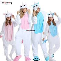 Hiver Animal Onesie enfants Kigurumi licorne pyjamas vêtements de nuit pour femmes adulte Pijama bébé fille vêtements garçons vêtements de nuit salopette