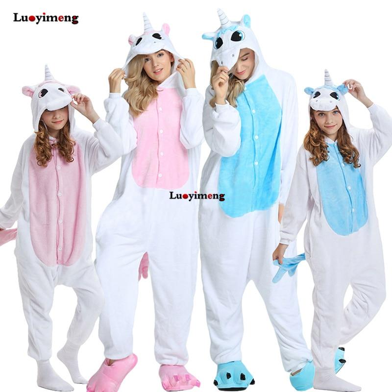 Winter Animal Onesie Kids Kigurumi Unicorn Pajamas Sleepwear For Women Adult Pijama Baby Girl Clothes Boys Nightwear Overalls