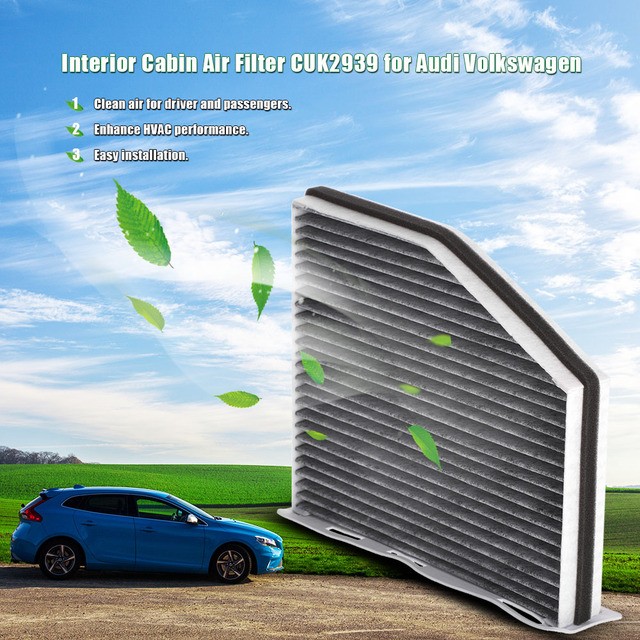 Auto Car Cabin Filter Vehicle Carbonized Carbon Cabin Air Filter CUK2939  For Audi Volkswagen