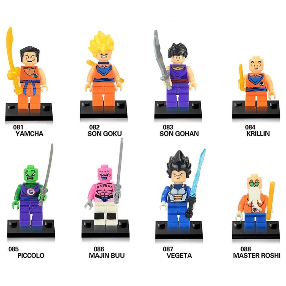 Single Sale Building Blocks Dragon Ball Z Figures Goku Vegeta Perfect Cell Majin Buu Gohan Bulma Bardock Bricks Kids Toys W0116