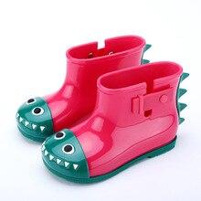 Мини Мелисса малышей Сапоги и ботинки для девочек дождь Обувь водонепроницаемые резиновые сапоги детские резиновые сапоги Обувь резиновая животного Обувь с рисунком из мультфильмов
