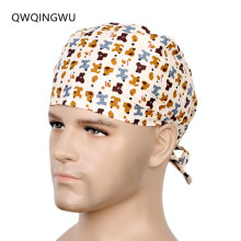 Men Surgical Caps 100% Cotton Printing Dentist Caps Hospital Women Men Design Nurse Caps Uniform Adjustable Surgical Cap