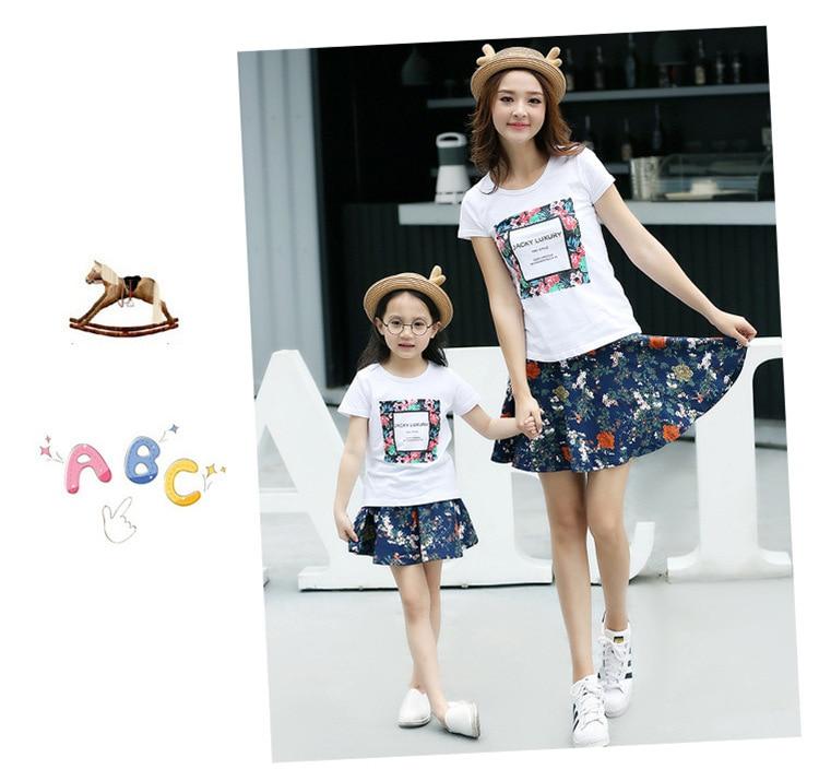 b5f4adad Wholesale cotton Korean Family pack summer 2019 new short sleeve t ...