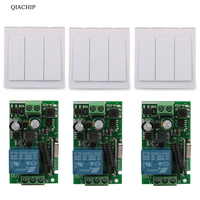 3 CH Wall Panel Remote Transmitter 433MHz RF TX Remote Control Switch 433 MHz 220V 1CH