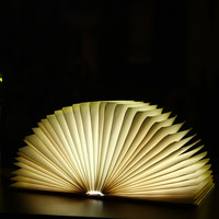 Creative LED Book Light Lamp Folding LED Night Light Novelty Decorative USB Rechargeable Lamps Changeable Ornament