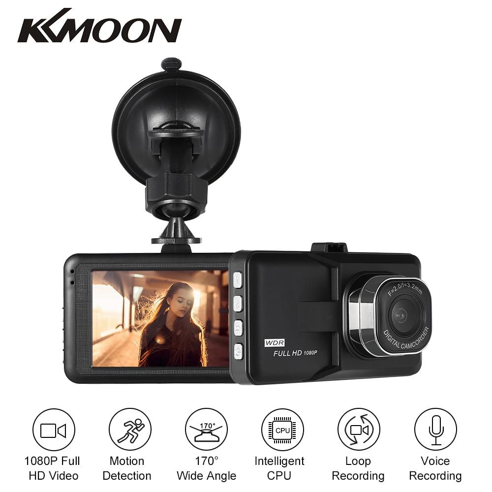 KKMOON 3 in Dash Camera Car DVR Dash Cam Video Recorder LCD FHD 1080P Camcorder Night Vision / Motion Detection / Loop Recording ordro hdv v12 3 0 lcd cmos sensor 1080p fhd digital camera dvr usb cam dv 16x zoom video recorder night vision camcorder