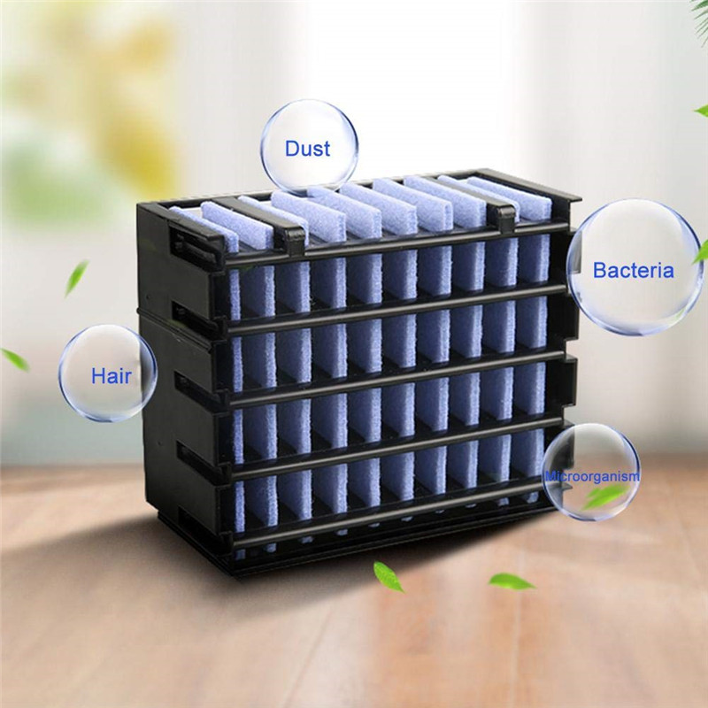 Portable Mini Air Cooler Air Conditioner Conditioning LED Light Humidifier Purifies Air Cooling Fan For Home Office Dropshipping