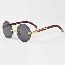 a8c457032e Vazrobe gafas de sol de madera de las mujeres de los hombres, diseñador de  marca, gafas de sol para hombre ronda sin montura de .