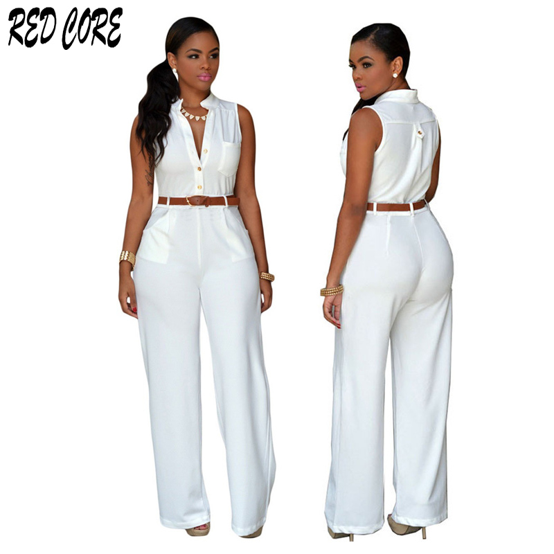 REDCORE Sexy Sleeveless   Jumpsuits   Rompers Womens   Jumpsuit   Summer 2019 Plus Size Wide Leg Pants Playsuits And   Jumpsuits   LTK047