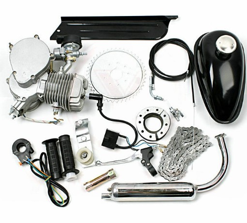 DIY 80cc 2 Stroke Engine Motor Complete Kits Set For GAS MOTORIZED Cycle Bike Bicycle Motorcycle
