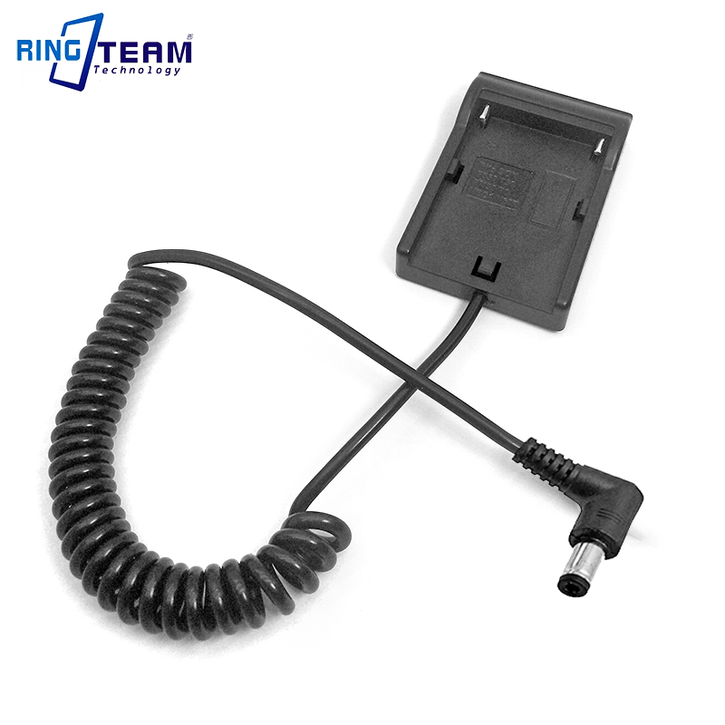 Spiral Cable NP F970 F550 FM50 VW VBD1 Battery Holder Adapter Plate DC 5.5*2.5mm Angled Connector for Monitor Light Lamp Camera np f960 f970 6600mah battery for np f930 f950 f330 f550 f570 f750 f770 sony camera