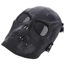 Softair Maske Totenkopf Schdel Vollschutzmaske Schwarz Militr