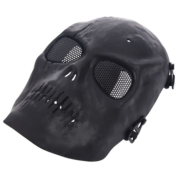 Skull Airsoft Party Mask Paintball Full Face Mask Army Games Mesh Eye Shield Mask for Halloween Cosplay Party Decor image