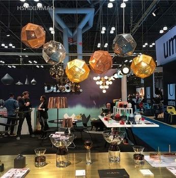 Kreatywny światła i cienia wieloaspektowy ze stali nierdzewnej piłka żyrandol restauracja bar bar tenis okrągłe metalowe żyrandol decorat