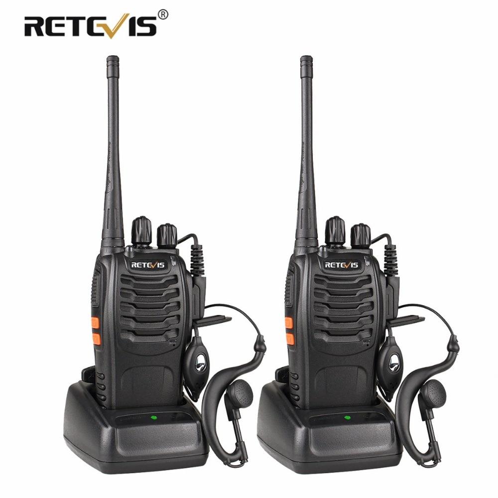 2 pcs Retevis H777 Walkie Talkie UHF 400-470 MHz Ham Radio Hf Ricetrasmettitore Radio Bidirezionale Communicator USB ricarica Talkie Walkie