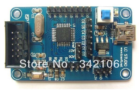 Free Shipping!!!  5pcs ATmega48 M48 AVR development board core board minimum system