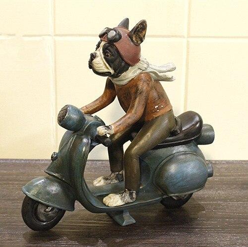 Personalitet i ri krijues Frëngjisht Bulldog Dog Lokomotivë Motor - Dekor në shtëpi