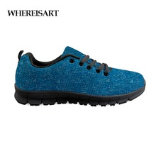 WHEREISART Casual Shoes Men Math Lessons Print Mesh For Blue Classic Flat Students Comfortable Flats Sneakers