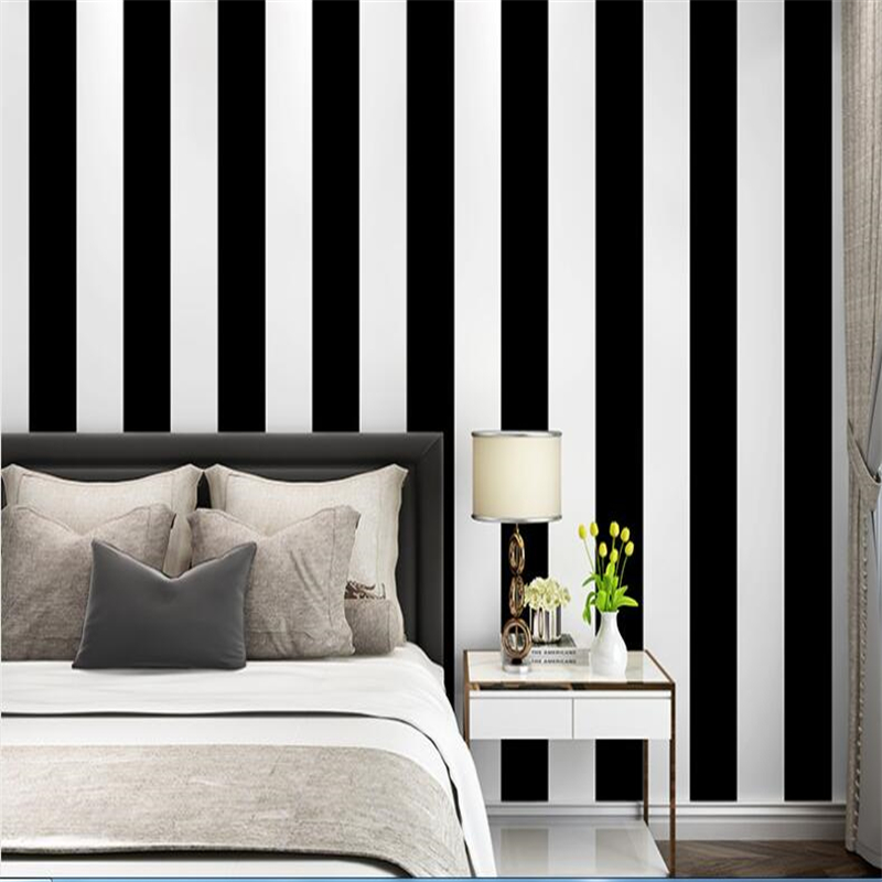 beibehang Modern wallpaper 3d decorative mural wall modern minimalist black and white striped photo wallpaper mural Vinyl wall free shipping black and white photo hepburn portrait figure sofa tv background wall mural wallpaper