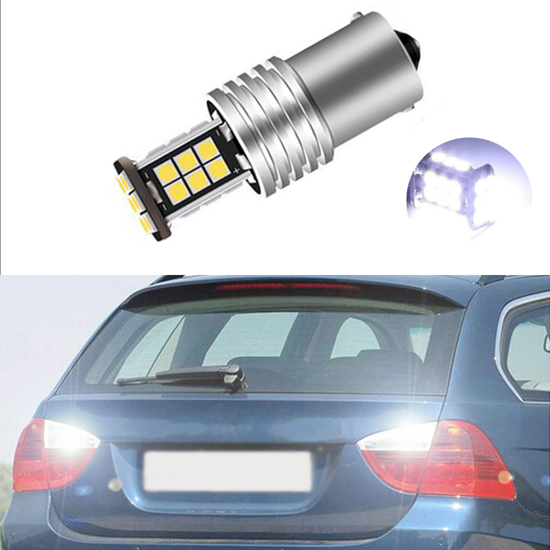 1X 1156 BA15S P21W LED Bulb 3030 SMD Car Back Up Reverse Lights For <font><b>BMW</b></font> 3/5 SERIES <font><b>E30</b></font> E36 E46 E34 X3 X5 E53 E70 Z3 Z4 image