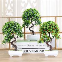 Artificial New High End Simulation Plant Bonsai Home Wedding Christmas Decoration Flowers Creative Fake Flowers Potted