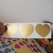 150 шт. 30x35 мм Сердце Серебро/Красного и золотого цвета; клей отрывающиеся стикеры DIY ручной работы царапается, которое присоединяется к пленка