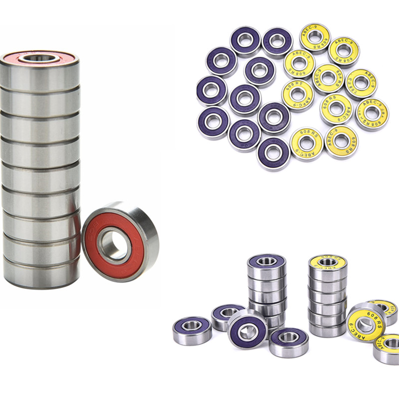 10x 608RS ABEC-9 Stainless Steel Bearings Roller Skate Scooter Skateboard Wheel