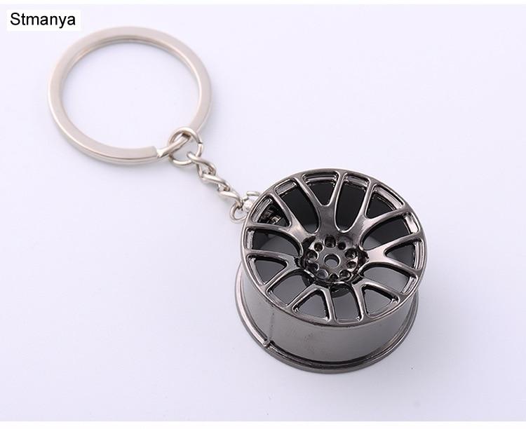 Key Chain 3D Miniature BBS Wheel Rim Keychain Metal Car Key Ring Wheel Hub Key Chain Car Sales Gifts For Friend Gift 17156