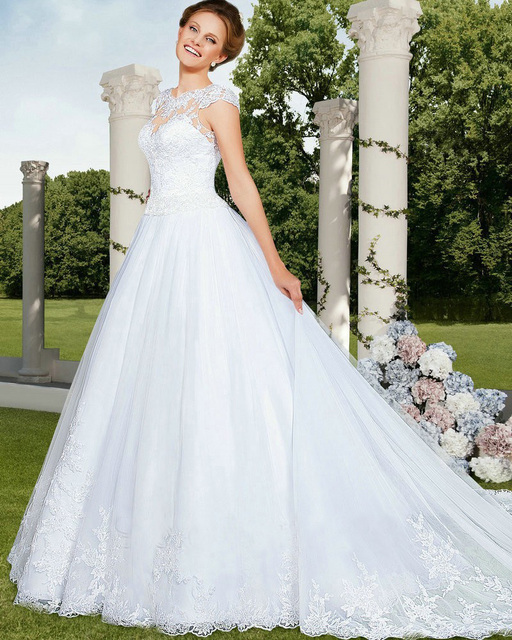 Vestido De Noiva Princesa 2015 Einfache Hochzeitskleid Elegante ...