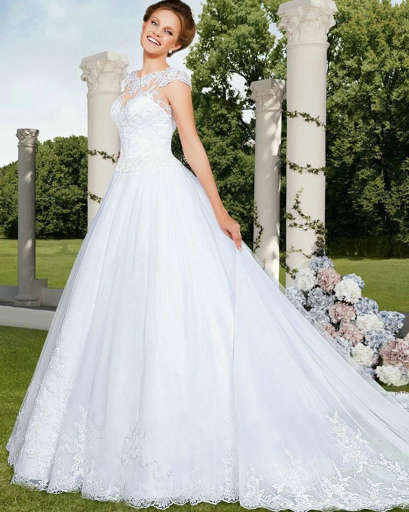 20 Elegant Simple Wedding Dresses Of 2015: Vestido De Noiva Princesa 2015 Simple Wedding Dress