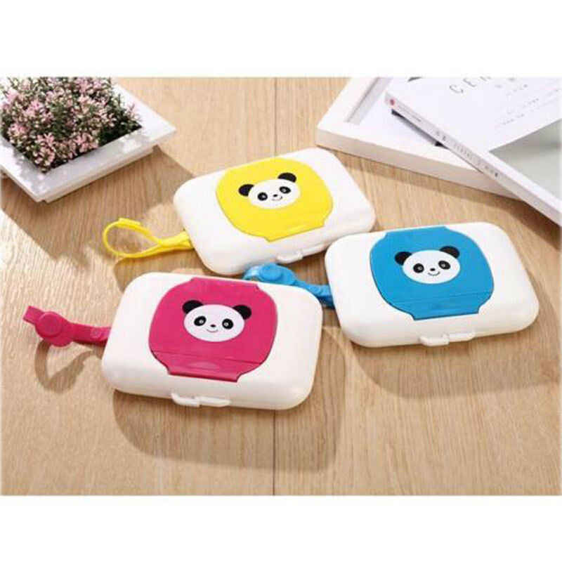 Cartoon Dry Wet Tissue Case Box Baby Wipes Container Towel Napkin Papers Bag Holder Box Case
