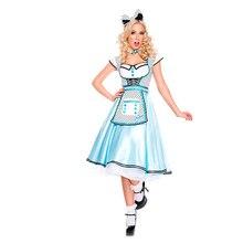 Fashion Alice in the Wonderland Alice Princess Costume Adult Women Halloween Carnival Alice Maid Cosplay Uniform