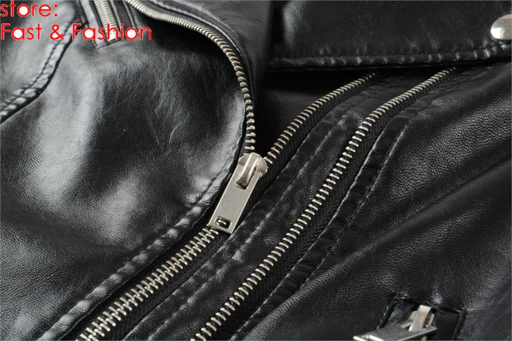 2019 New Fashion Women Smooth Motorcycle Faux Leather Jackets Ladies Long Sleeve Autumn Winter Biker Streetwear Black Coat