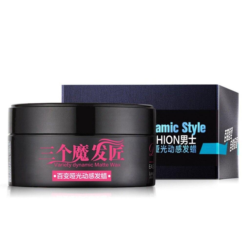 Matte Texture Hair Cera Fashion Men Styling Wax Portable Hair Moisturizing Lasting Wax Hair Salon Accessories