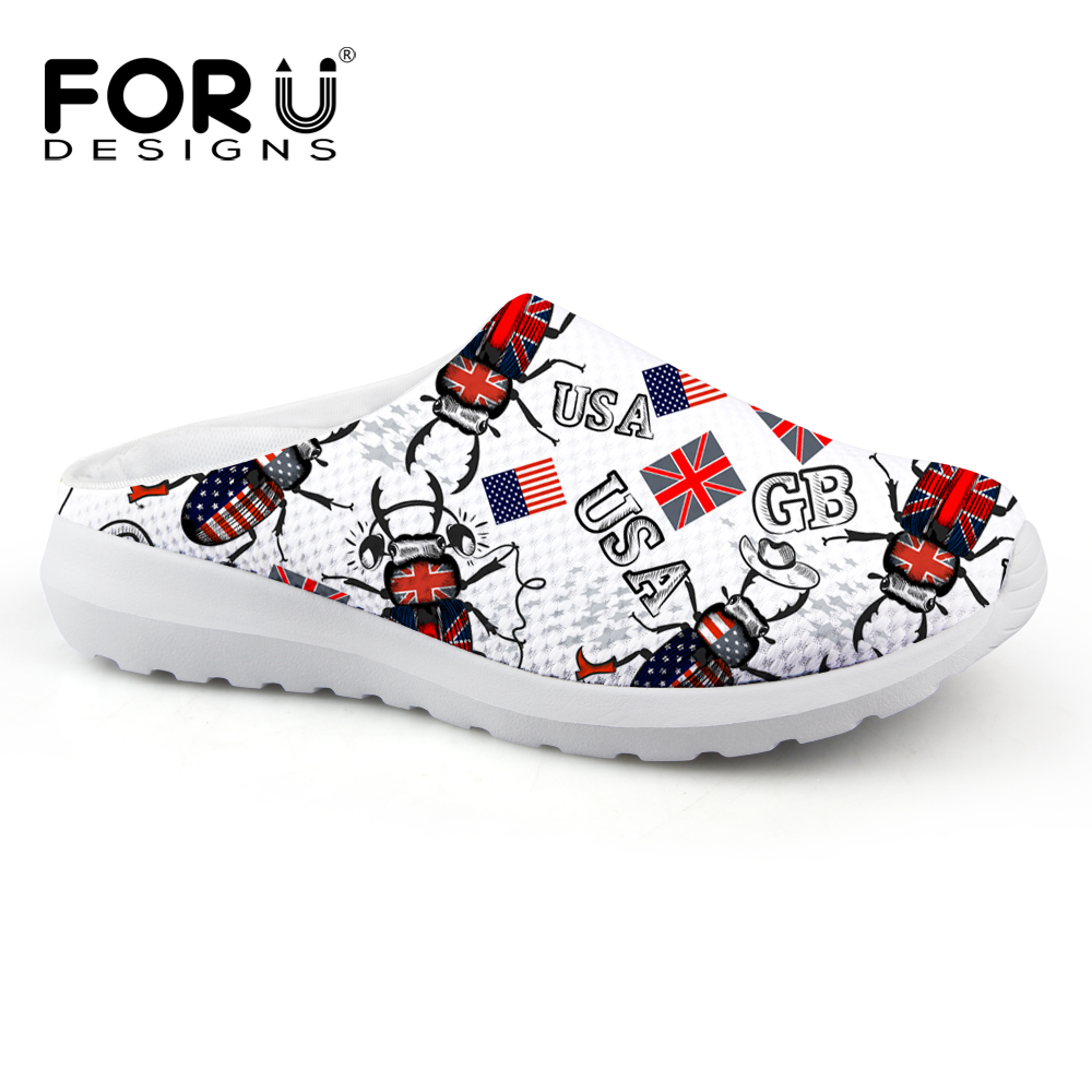 FORUDESIGNS Flag Designer Men Home Slippers, Summer House Sandals for Mens,Male Clogs Sandals Shoes Men`s Plus Size Slipper fghgf shoes men s slippers hma
